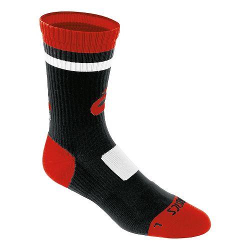 ASICS Craze Crew 3 Pack Socks - Black/Red S
