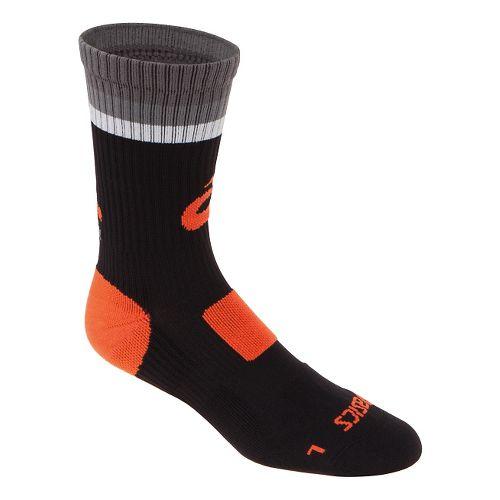 ASICS Craze Crew 3 Pack Socks - Black/Neon Orange L