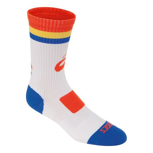 ASICS Craze Crew 3 Pack Socks - White/Orange S