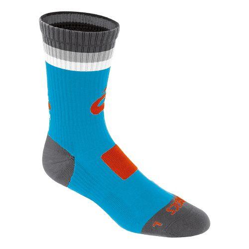 ASICS Craze Crew 3 Pack Socks - Atomic Blue/Orange M