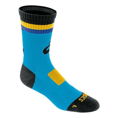 ASICS Craze Crew 3 Pack Socks - Atomic Blue/Black M