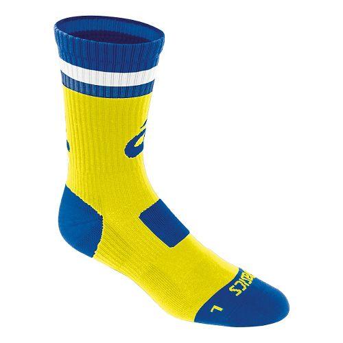 ASICS Craze Crew 3 Pack Socks - Neon/Royal S