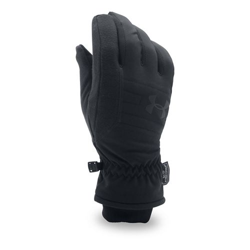 Mens Under Armour No Breaks Gore WS Glove Handwear - Black/Black XL