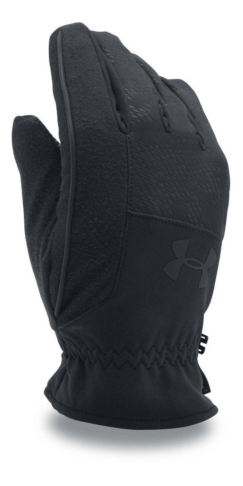 Mens Under Armour No Breaks Softshell Glove Handwear - Black/Black S
