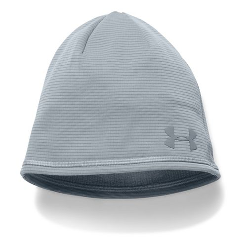 Mens Under Armour No Breaks T400 Beanie Headwear - Steel