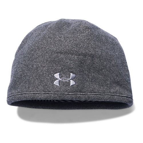 Mens Under Armour Survivor Fleece Beanie Headwear - Black/Steel