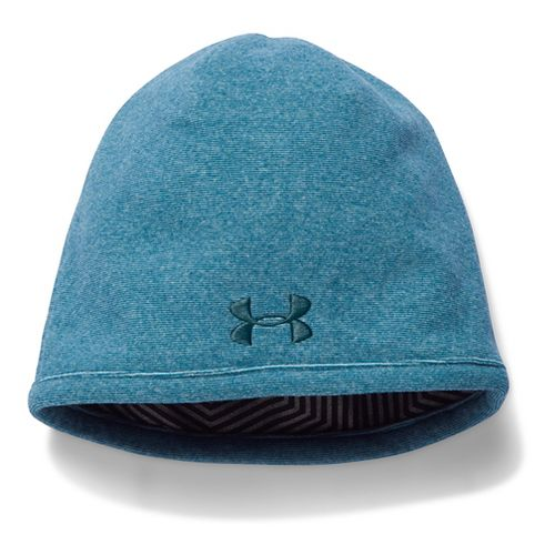 Mens Under Armour Survivor Fleece Beanie Headwear - Peacock