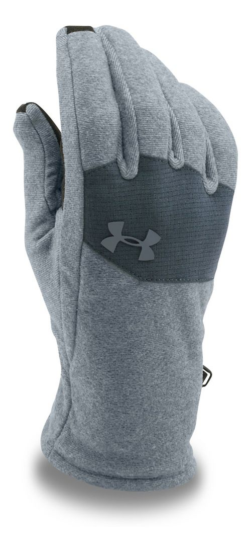 Mens Under Armour Survivor Fleece Glove Headwear - Steel/Stealth Grey L
