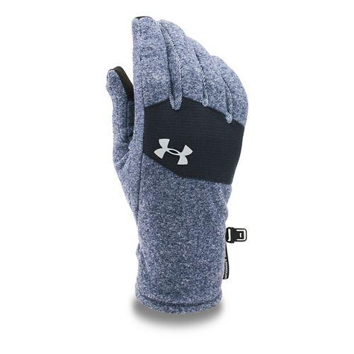 Mens Under Armour Survivor Fleece Glove Headwear - Midnight Navy/Black L