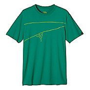 Mens prAna Climb The Line Short Sleeve Non-Technical Tops