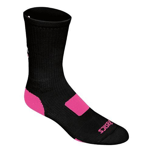 ASICS Flash Point Sock 3 Pack Socks - Black/Pink Glo S