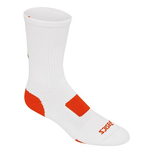 ASICS Flash Point Sock 3 Pack Socks - White/Orange S