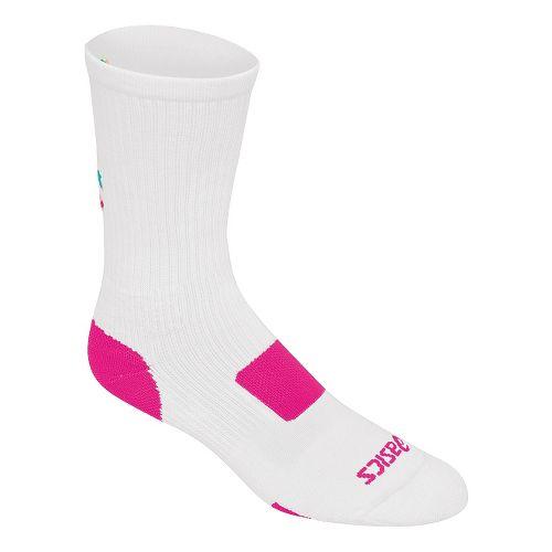 ASICS Flash Point Sock 3 Pack Socks - White/Neon Pink XL