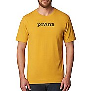 Mens prAna Logo Short Sleeve Non-Technical Tops