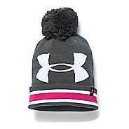 Womens Under Armour PIP Graphic Pom Beanie Headwear