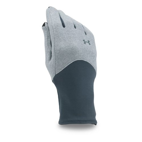 Womens Under Armour Survivor Fleece Glove Handwear - Steel/Stealth Grey M