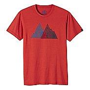 Mens prAna Mountain Slim Short Sleeve Non-Technical Tops