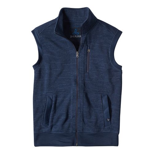 Mens prAna Performance Fleece Vests - Blue M