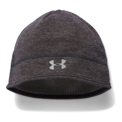 Womens Under Armour Elements Fleece Beanie Headwear - Charcoal
