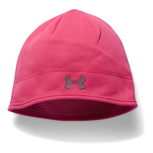 Womens Under Armour Elements Fleece Beanie Headwear - Pink Sky