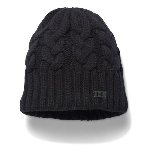 Womens Under Armour Around Town Beanie Headwear - Black