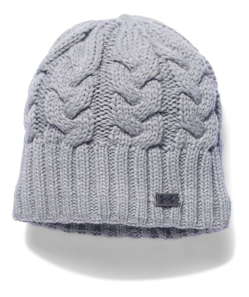 Womens Under Armour Around Town Beanie Headwear - True Grey Heather