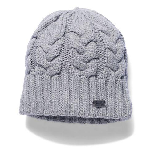 Womens Under Armour Around Town Beanie Headwear - True Grey Heather