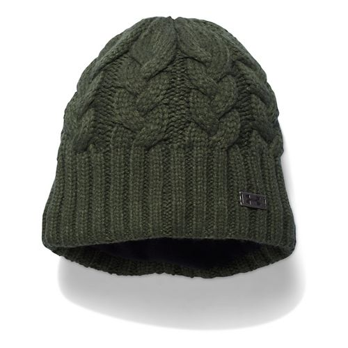 Womens Under Armour Around Town Beanie Headwear - Downtown Green