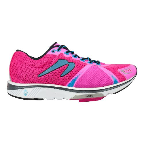 Womens Newton Running Gravity VI Running Shoe - Pink/Blue 6.5