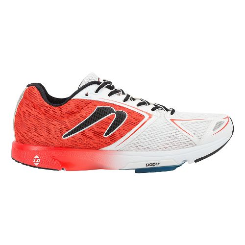 Mens Newton Running Distance VI Running Shoe - Red/White 11