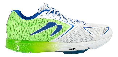 Womens Newton Running Distance VI Running Shoe - Green/White 9.5