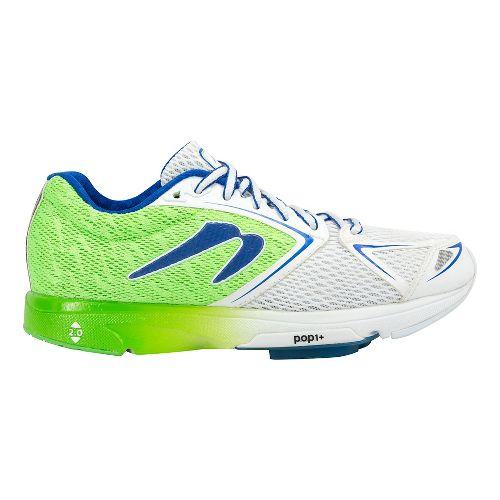 Womens Newton Running Distance VI Running Shoe - Green/White 10