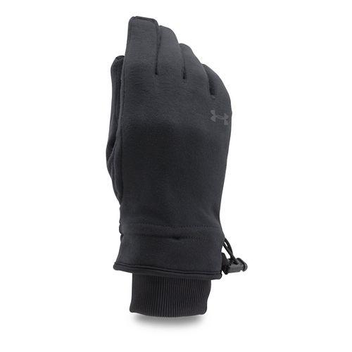 Womens Under Armour Elements Fleece Glove Handwear - Black L