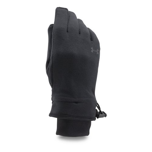 Womens Under Armour Elements Fleece Glove Handwear - Black XL
