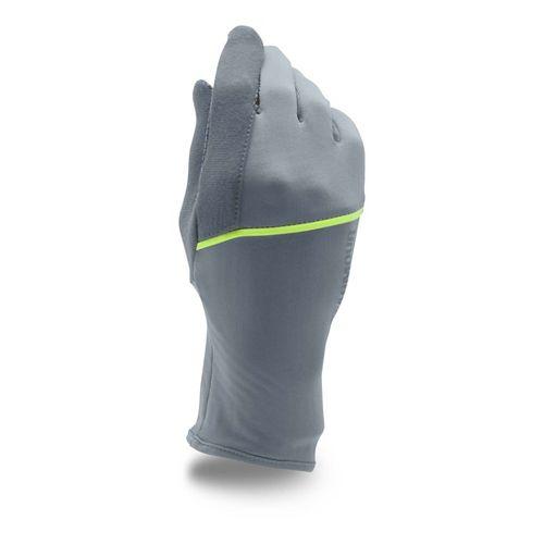 Womens Under Armour No Breaks CGI Liner Handwear - Steel/X-Ray XL