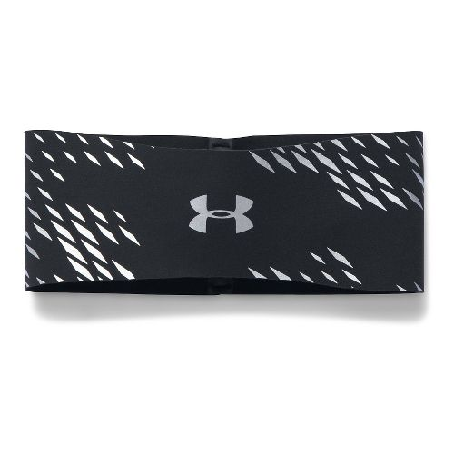 Womens Under Armour No Breaks Reflective Band Headwear - Black
