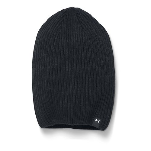 Womens Under Armour On/Off Beanie Headwear - Black/White