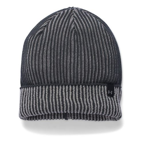 Womens Under Armour Reflective Knit Beanie Headwear - Stealth Grey