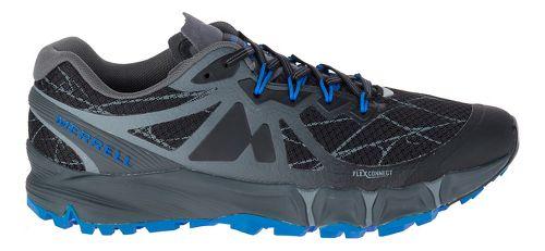 Mens Merrell Agility Peak Flex Trail Running Shoe - Black 14