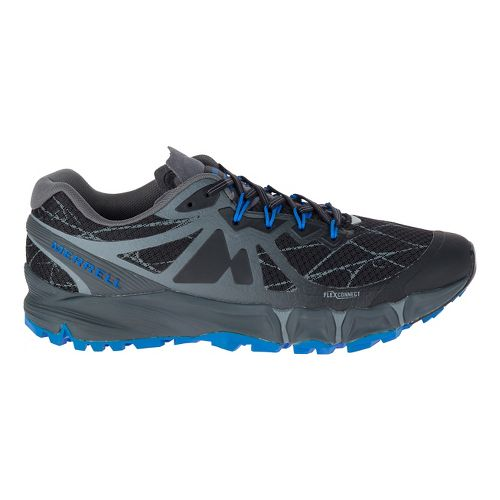 Mens Merrell Agility Peak Flex Trail Running Shoe - Black 10