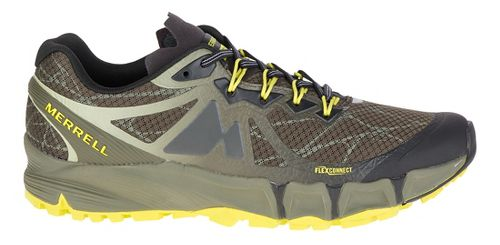 Mens Merrell Agility Peak Flex Trail Running Shoe - Belluga/Olive 9