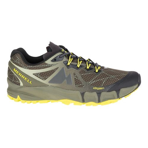Mens Merrell Agility Peak Flex Trail Running Shoe - Belluga/Olive 14