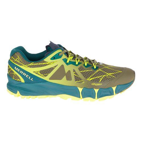 Mens Merrell Agility Peak Flex Trail Running Shoe - Dark Olive 9