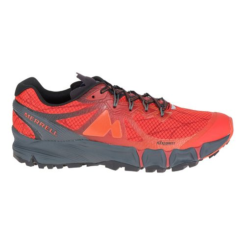 Mens Merrell Agility Peak Flex Trail Running Shoe - Merrell Orange 10