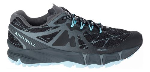 Womens Merrell Agility Peak Flex Trail Running Shoe - Black 10