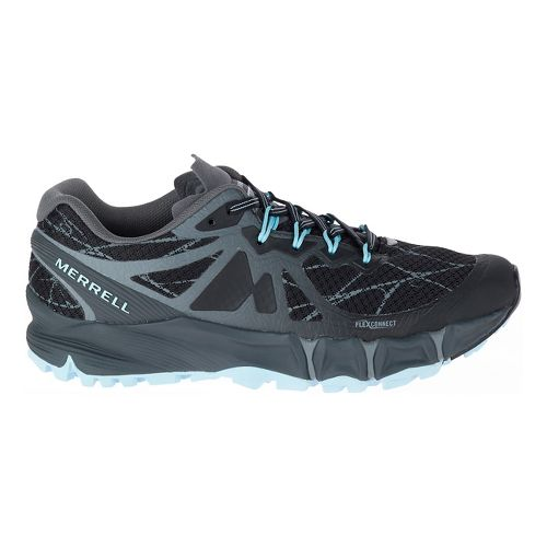 Womens Merrell Agility Peak Flex Trail Running Shoe - Black 5