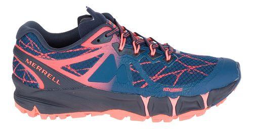 Womens Merrell Agility Peak Flex Trail Running Shoe - Navy 6.5