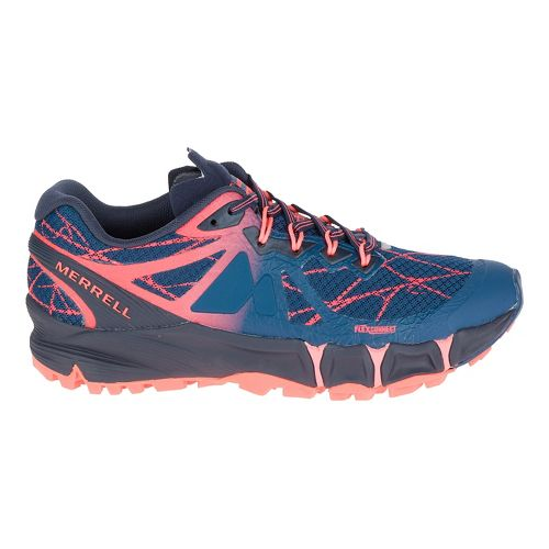 Womens Merrell Agility Peak Flex Trail Running Shoe - Navy 10