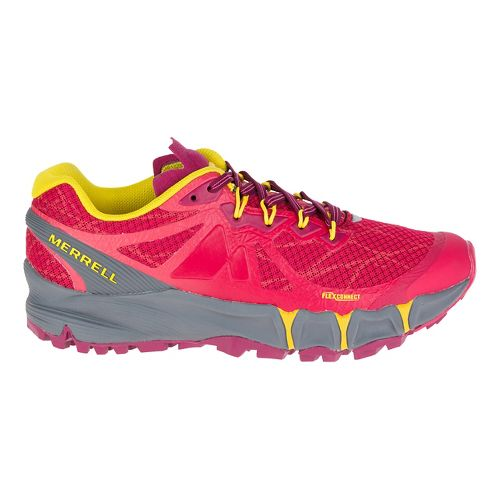 Womens Merrell Agility Peak Flex Trail Running Shoe - Ski Patrol 10
