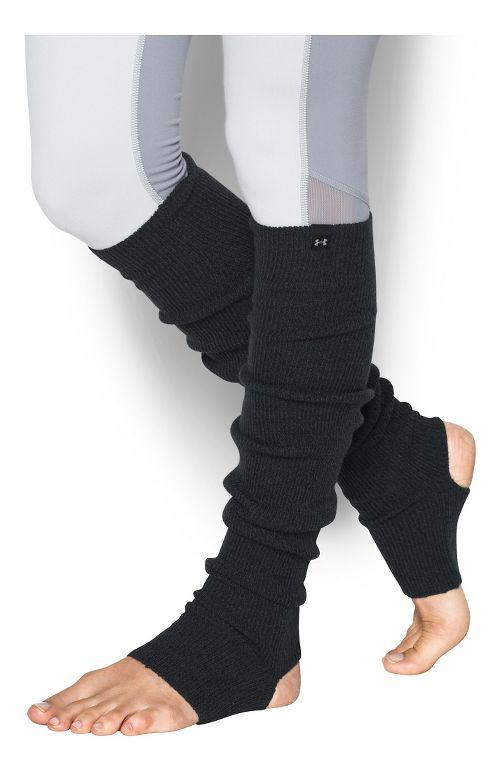 Womens Under Armour Essentials Legwarmers Fitness Equipment - Black/Stealth Grey